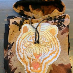 Custom Acid Wash Undftd Tiger Hoodie